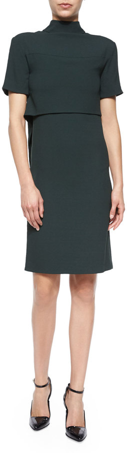 Jason Wu Draped-Back Layered Dress by Jason Wu