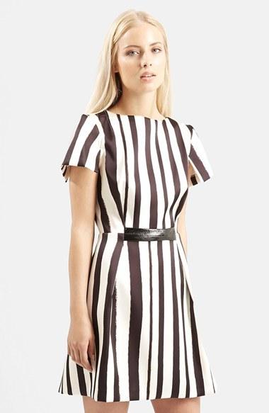 Topshop 'Shoto' Stripe A-Line Dress by Topshop