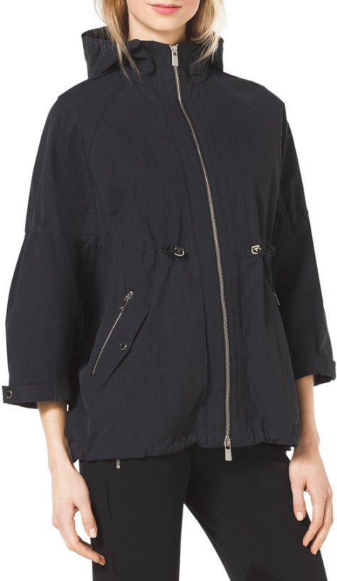 Michael Kors  Crinkled Short Anorak Jacket by Michael Kors