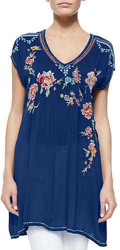 Johnny Was Collection Carmen Floral-Embroidered Tunic by Johnny Was