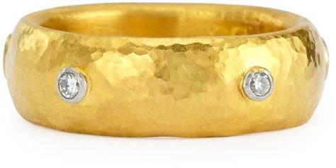 Gurhan Celestial 19k Gold & Diamond Stackable Ring by Gurhan