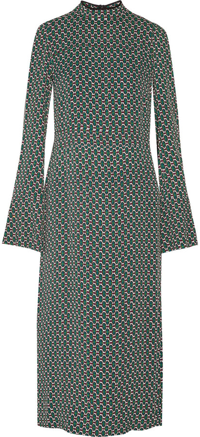 Marni Printed Crepe Midi Dress by Marni