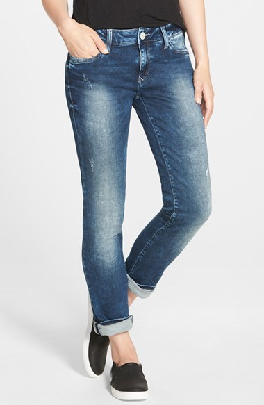Mavi Jeans 'Emma' Distressed Boyfriend Slim Jeans (Mid Sporty) by Mavi Jeans