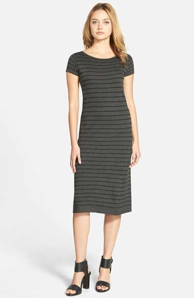 cupcakes and cashmere 'Catalina' Stripe Midi Dress (Nordstrom Exclusive) by Nordstrom