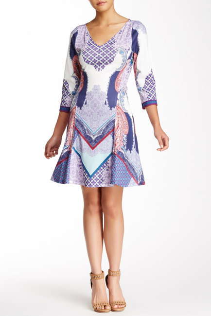 Hale Bob Printed V-Neck Dress by Hale Bob