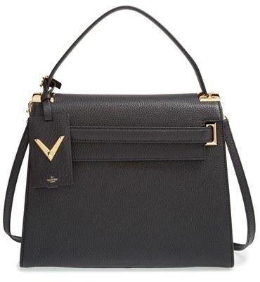 Valentino 'My Rockstud' Grainy Leather Satchel by Valentino