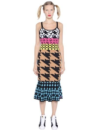 Geometric Cotton Jacquard Dress by LUISAVIAROMA