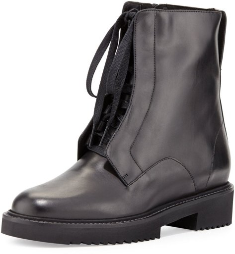 Vince Connelly Leather Combat Boot, Black by Vince