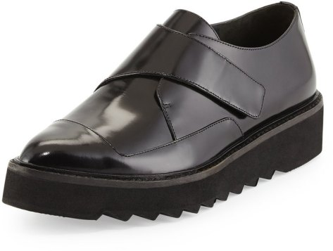 Vince Arden Polished Leather Creeper, Black by Vince