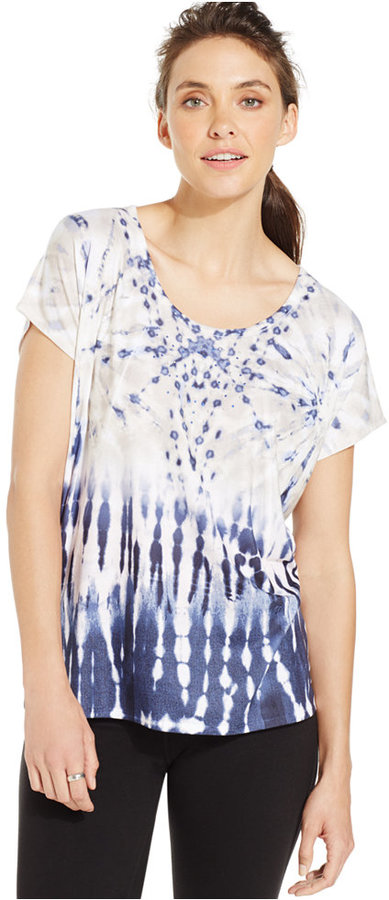 Style&co. Sport Printed Embellished Yoga Tee by Style&co.