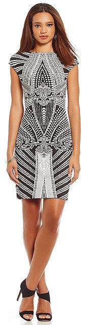 Julia Jordan Geometric-Print Sheath Dress by Julia Jordan