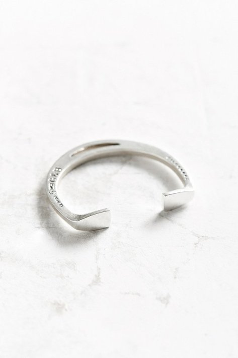 Giles & Brother Giles & Brother Stirrup Silver Cuff Bracelet by Giles & Brother