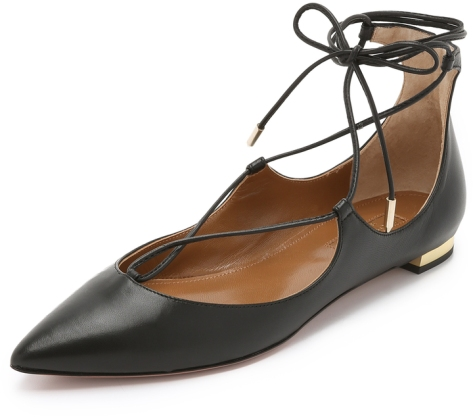 Aquazzura Christy Flats by Aquazzura